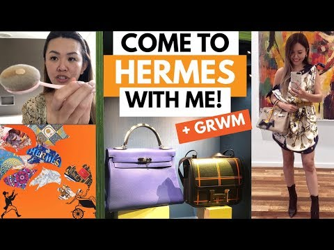 HERMES VLOG! GRWM + COME TO A SPECIAL HERMES EVENT WITH ME!