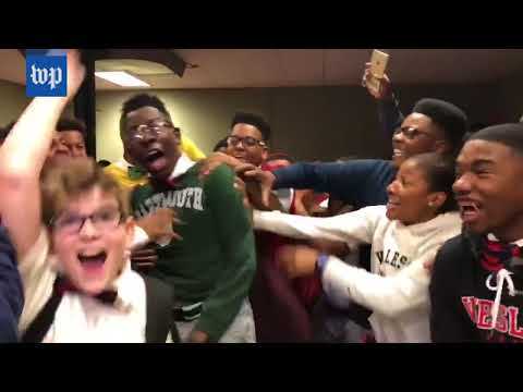 Louisiana school films the moment every senior gets accepted into college