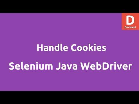 Cookies using Selenium Java Webdriver