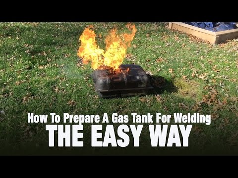 Jeep Cj5 Project - Preparing A Gas Tank For Welding - THE EASY WAY