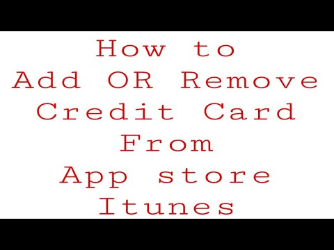 How to add or remove credit card to apple id from iphone or ipad