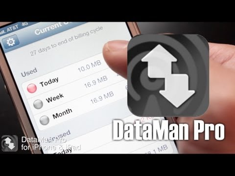 Easily Keep Track of your Data Usage with DataMan Pro for iPhone and iPad