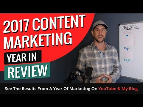 2017 Content Marketing Year In Review. See The Results From A Year Of Marketing On YouTube & My Blog