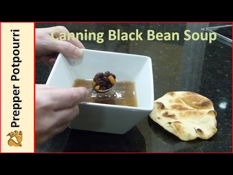 Canning Black Bean Soup