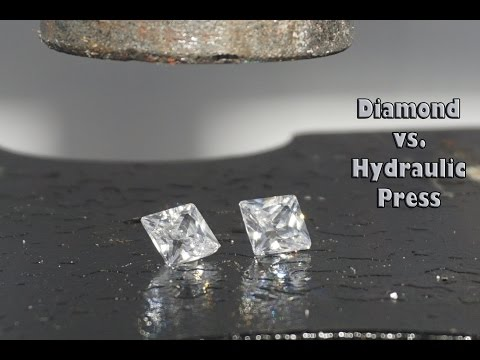 Diamond vs Hydraulic Press and Cubic Zirconia