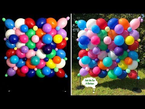 Organic Balloon Wall Decoration