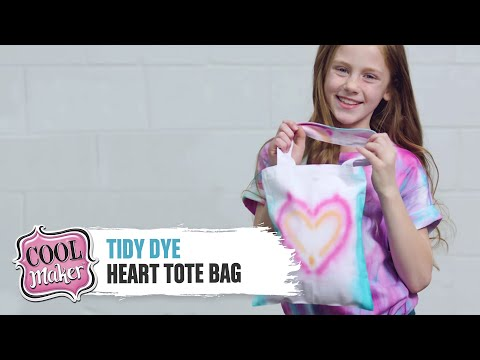 Tidy Dye Station - How to Design a Heart Tote Bag