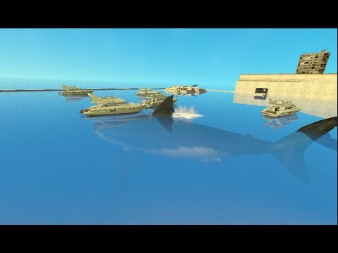 Prehistoric Megaladon Shark Attack We Need a bigger Boat Garry's Mod Awesome Fun Sandbox Mode