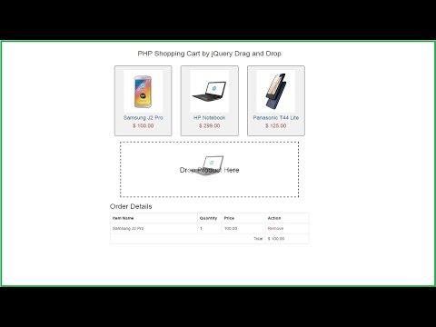 Ajax Jquery Drag and Drop Shopping Cart using PHP Mysql