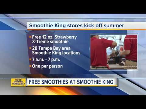 Free smoothies at Smoothie King on Wednesday