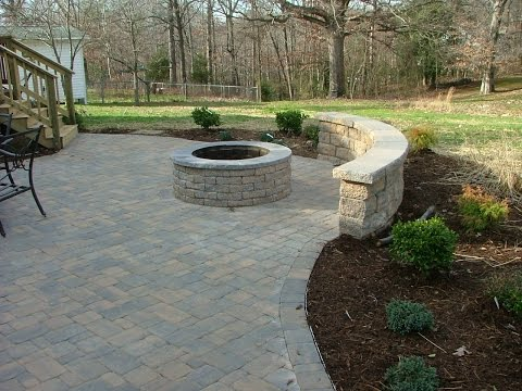 Paver Patio Designs With Fireplace