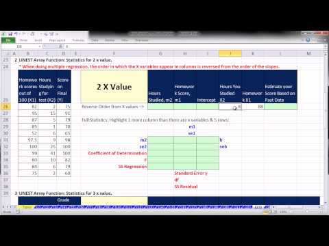 Ctrl + Shift + Enter: Excel Array Formulas 23: LINEST Array Function