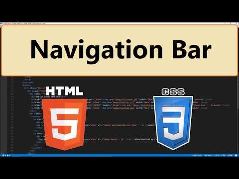 HTML5 and CSS3: 40 - Navigation Bar