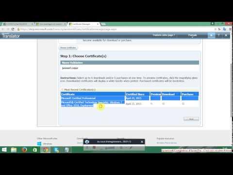 Télécharger vos certificats MCP