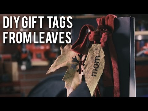 Idea: DIY gift tags made of leaves