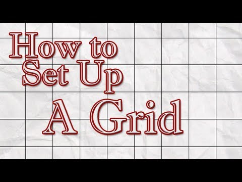 How to Set Up a Grid For Your Drawing