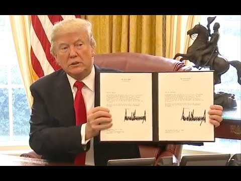 President Trump Signs Historic Tax Bill and Wishes Everyone A Merry Christmas