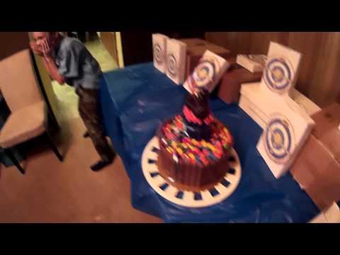 Bennet's Birthday Cake and Nerf Gun Salute