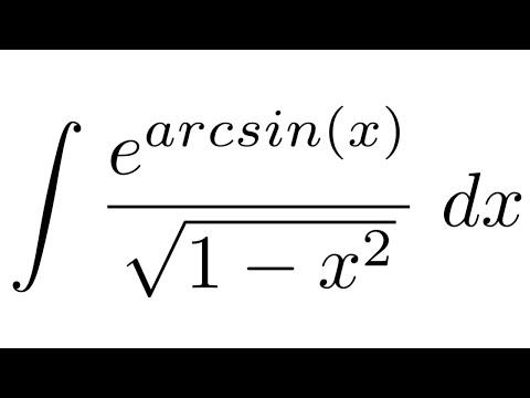 Integral of e^arcsin(x)/sqrt(1-x^2) (substitution)
