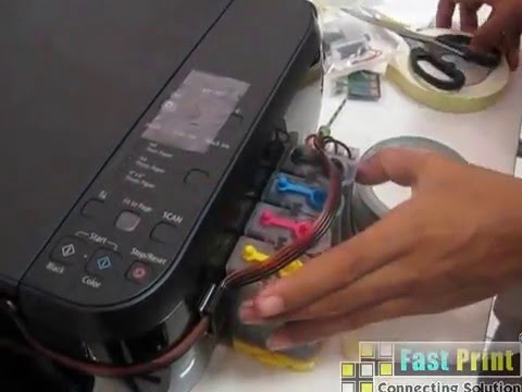 How to install the ink bottle modification CANON MP287