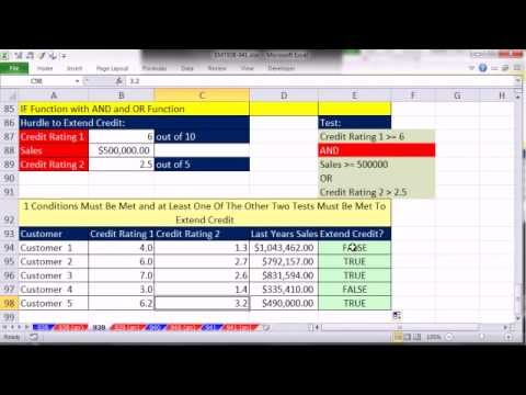 Excel Magic Trick 939: Use OR and AND Functions In IF Function For Logical Tests