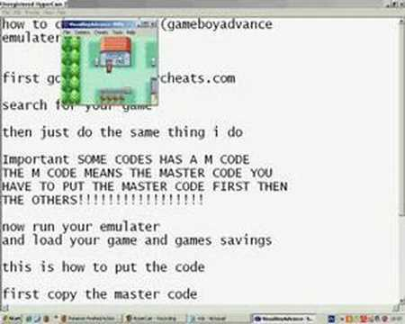 how to put cheats on VisualBoyAdvance