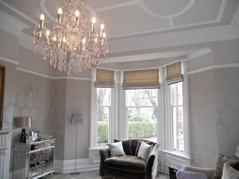 Bay Window Roman Blinds White Design UK