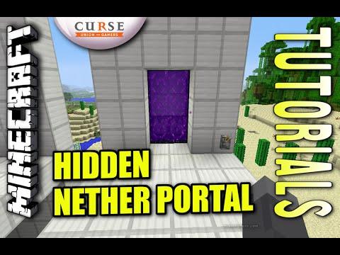 Minecraft - ON / OFF NETHER PORTAL w/Switch - Tutorial ( PE / XBOX / PS4 / PS3 / WII U )