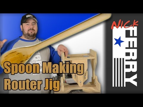 Ⓕ Spoon Making Router Jig (ep43) Kitchen Utensil Challenge