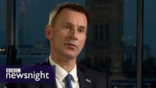 Is the NHS in crisis? Interview with Health Secretary Jeremy Hunt - BBC Newsnight