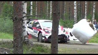 Neste Rally Finland 2017, Day 1 (crash & action)
