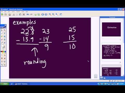 Estimation - Compatible Numbers
