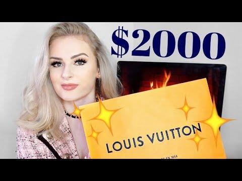 $2000 Louis Vuitton Haul... woops