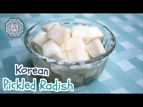 【Korean Food】 Korean Pickled Radish for Fried Chicken (치킨 무)