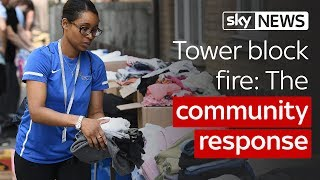 Tower block fire: The community response