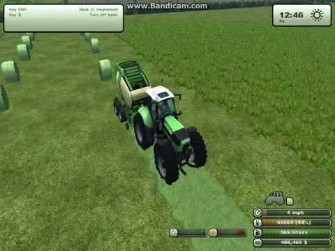 Baling Hay on farming simulator 2013