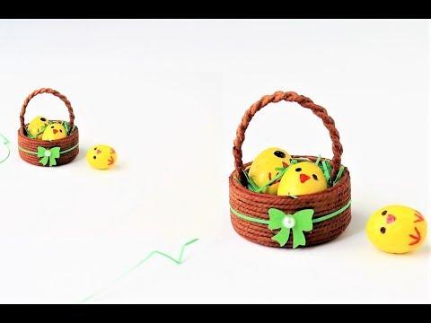 Miniature Easter egg basket/DIY