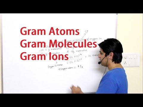 Gram Atoms, Gram Molecules, Gram Ions I Mole Concept