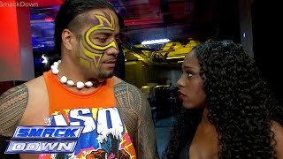 After a serious conversation with Miz, Naomi gets mad at Jimmy Uso: SmackDown, December 12, 2014