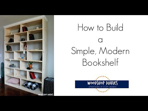 How to Build a Simple Modern Bookshelf
