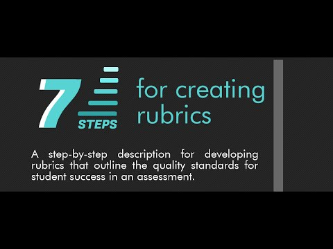 7 Steps for Creating Rubrics