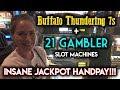 CRAZY JACKPOT HANDPAY 21 GAMBLER SLOT MACHINE INSANE RUN