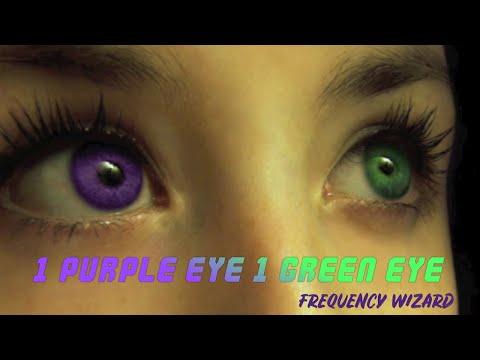 Get 1 Purple & 1 Green Eye Fast! Heterochromatic Eyes! Subliminals Frequencies Hypnosis Brainwaves