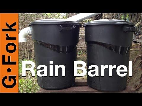 DIY Rain Barrel System - GardenFork
