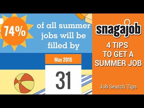 Job Interview Tips (Part 24): 4 tips to get a summer job