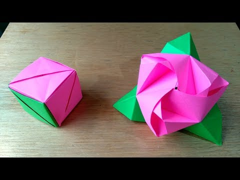 Origami Magic Rose Cube - Rosa cubo magica
