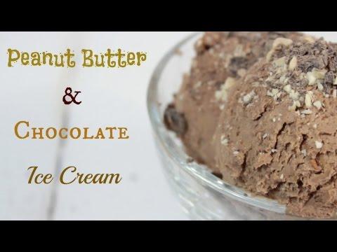 Peanut Butter and Chocolate Ice Cream   YUMMY VEGAN