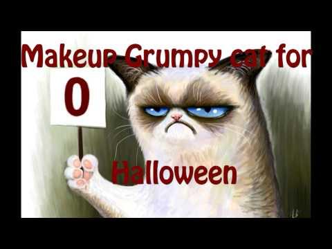 Makeup for Halloween Grumpy Cat / Макияж на Halloween Grumpy Cat ^-^