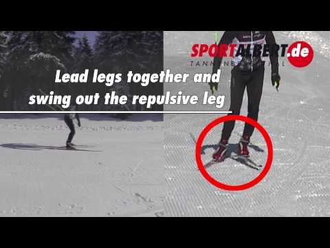Cross-country skiing technique: Skating 1-2 with active arm swing
