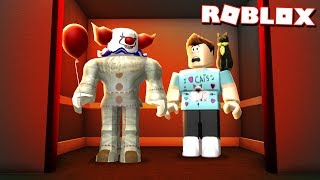"""TRAPPED WITH THE """"IT"""" CLOWN IN AN ELEVATOR IN ROBLOX!"""